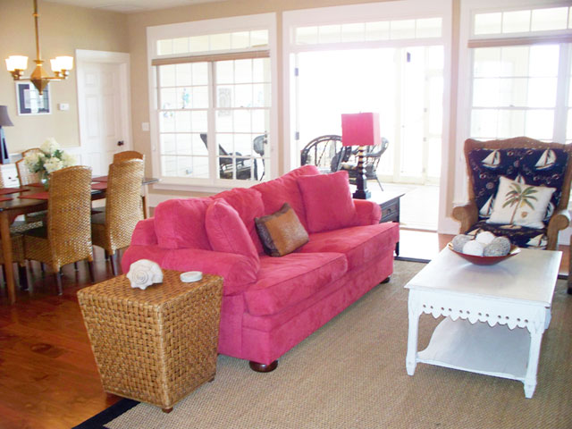 Outstanding Beach Cottage Living Rooms Festooning - Living Room ...